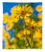 Wildflowers Standing Out Fleece Blanket