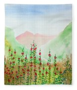 Wildflowers Fleece Blanket