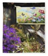 Wildlife's Mailbox Fleece Blanket