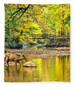 Wildlifes Thirst Fleece Blanket