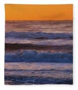 Wildwood Beach Golden Sky Fleece Blanket