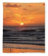 Wildwood Beach Here Comes The Sun Fleece Blanket