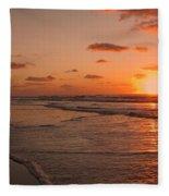 Wildwood Beach Sunrise II Fleece Blanket