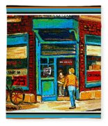 Wilenskys Art Famous Blue Door Posters Prints Cards Originals Commission Montreal Painting Cspandau  Fleece Blanket