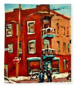 Wilenskys Hockey Art Paintings Originals Commissions Prints Montreal Deps Street Art Carole Spandau  Fleece Blanket
