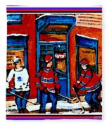 Wilenskys Hockey Art Posters Prints Cards Originals Commission Montreal Paintings Contact C Spandau Fleece Blanket