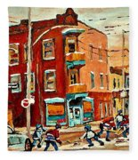 Wilenskys Paintings Hockey Art Commissions Originals Prints By Authentic Montreal Artist C Spandau Fleece Blanket