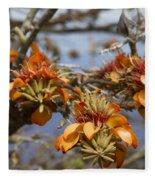 Wiliwili Flowers - Erythrina Sandwicensis - Kahikinui Maui Hawaii Fleece Blanket