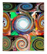 Will It Go 'round In Circles Fleece Blanket