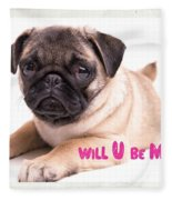 Will U Be Mine? Fleece Blanket