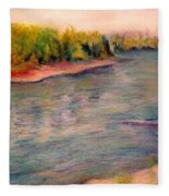Willamette River Reflections - Morning Light Fleece Blanket