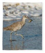 Willet With Sand Crab Fleece Blanket