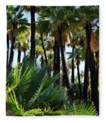 Willis Palm Oasis Fleece Blanket