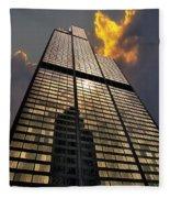 Willis Sears Tower Fleece Blanket