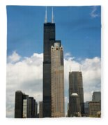 Willis Tower Aka Sears Tower Fleece Blanket