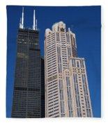 Willis Tower Chicago Fleece Blanket