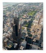Willis Tower Southwest Chicago Aloft Fleece Blanket