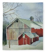 Williston Barn Fleece Blanket