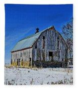 Willow Barn Painting Fleece Blanket