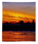 Willow Rd Sunset 2.27.2014 Fleece Blanket
