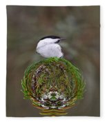 Willow Tits Planet Fleece Blanket