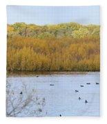 Willows Of October Fleece Blanket