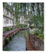 Willows Over The River Fleece Blanket