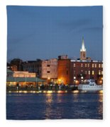 Wilmington At Night Fleece Blanket