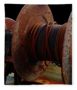 Winch - Cable - Crank - Boats Fleece Blanket