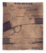 Winchester Rifle Patent Fleece Blanket