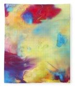 Wind Abstract Painting Fleece Blanket