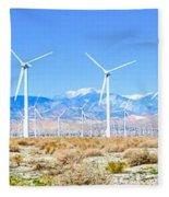 Wind Farm Palm Springs Fleece Blanket