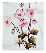 Wind Flowers Fleece Blanket