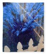 Wind In The Grass - Blue Fleece Blanket