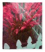 Wind In The Grass - Red Fleece Blanket