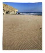 Wind Signals At The Beach Fleece Blanket