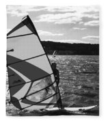Wind Surfer II Bw Fleece Blanket