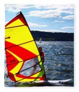 Wind Surfer II Fleece Blanket