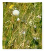 Wind Through The Meadow Fleece Blanket