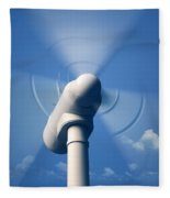 Wind Turbine Rotating Close-up Fleece Blanket