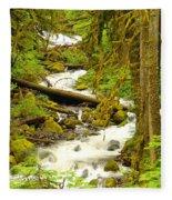 Winding Through The Forest Fleece Blanket