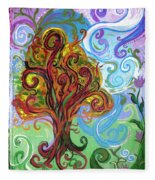 Winding Tree Fleece Blanket