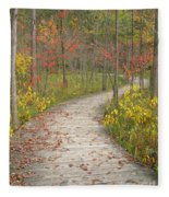 Winding Woods Walk Fleece Blanket