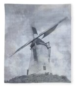 Windmill At Damme In Belgium Countryside Fleece Blanket