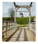 Windmill Bridge Fleece Blanket