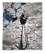 Windmill In The Clouds Fleece Blanket