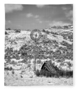 Windmill On A Hill Fleece Blanket