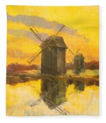 Windmills Fleece Blanket