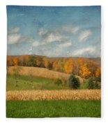 Windmills On The Horizon Fleece Blanket