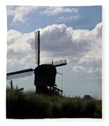 Windmills Silhouette Fleece Blanket